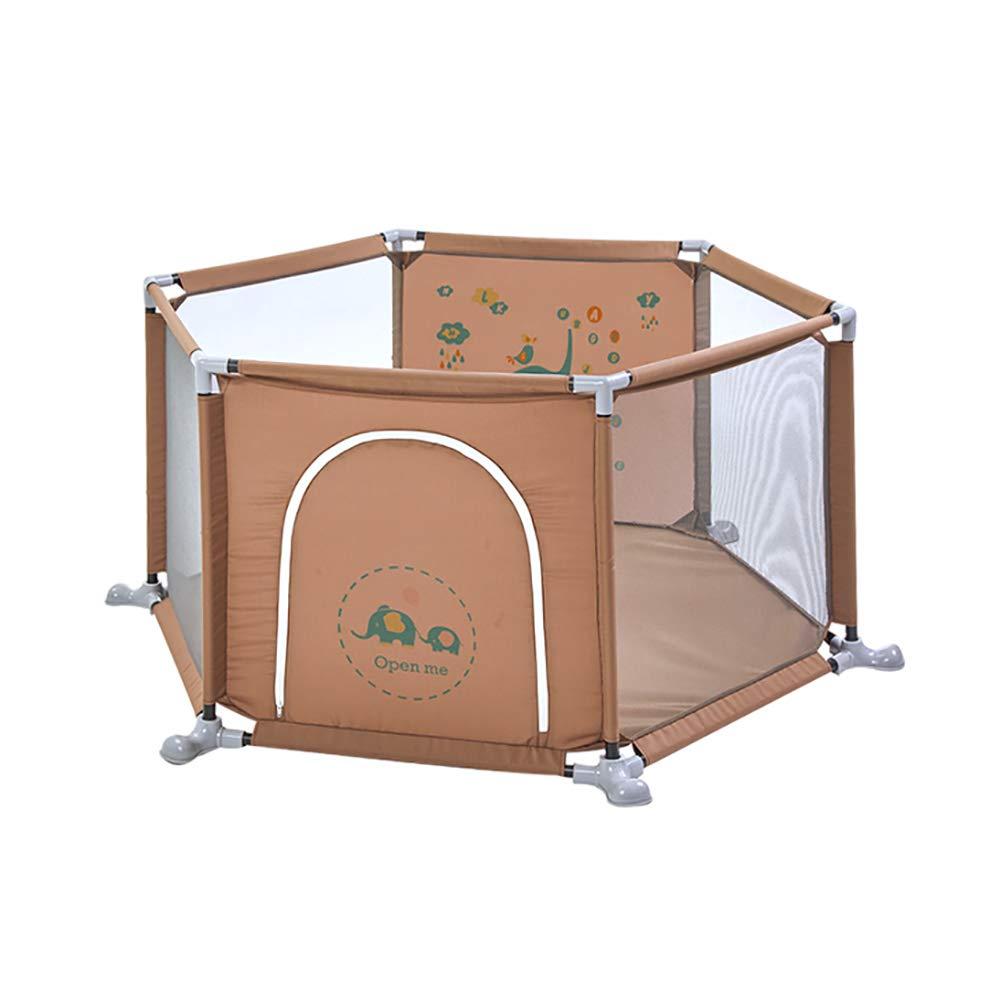 2019年最新入荷 セーフティヘキサゴン幼児の遊び場、横転防止ベビールームディバイダ、横風防止アクティビティセンタープレイフェンス扉付き、高さ67cm (色 (色 : Brown) Brown) Brown B07MKNZMZ9 B07MKNZMZ9, ブランド マート モンシェリエ:47132410 --- a0267596.xsph.ru