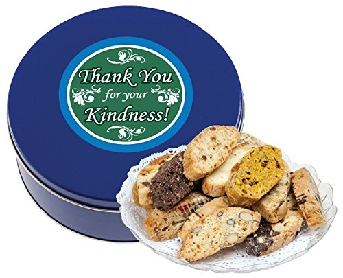 THANK YOU BISCOTTI TIN 1 LB (FRESH, ASSORTED)