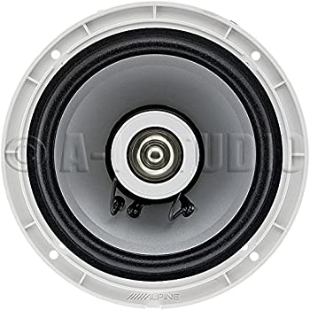 "Alpine Sps-m601 110w 6-12"" 6.5"" 2-way Type-s Marine Coaxial Speakers - Silver 2"