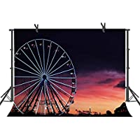FUERMOR 7x5FT Sunset Ferris Wheel Backdrop Photography Studio Photo Props RQ009