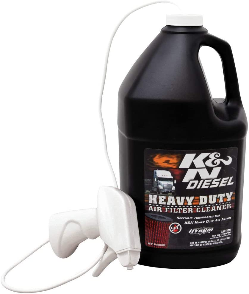 K&N Heavy Duty Air Filter Cleaner and Degreaser: Power Kleen; 1 Gallon; Restore Engine Air Filter Performance, 99-0638