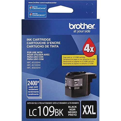 - Brother LC109BK OEM Ink - MFC J6520DW J6720DW J6920DW Ultra High Yield Black Ink (2400 Yield)