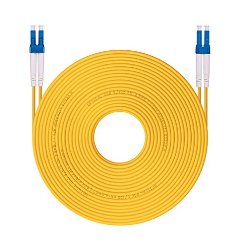 OS1/OS2 LC to LC Fiber Patch Cable 9/125 Singlemode Duplex , LSZH, 30-Meter(100ft) (Singlemode Duplex Fiber Optic Cable)