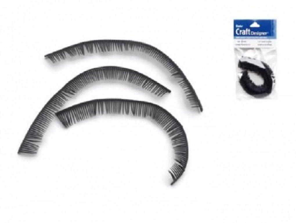 Amazon Black Doll Eyelashes 5 34 Inch Plastic Eye Lashes