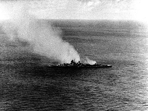Home Comforts Laminated Poster The Japanese Heavy Cruiser Mikuma Dead in The Water and Burning, Following Attacks by U.S. Navy Doug Vivid Imagery Poster Print 24 x 36 ()
