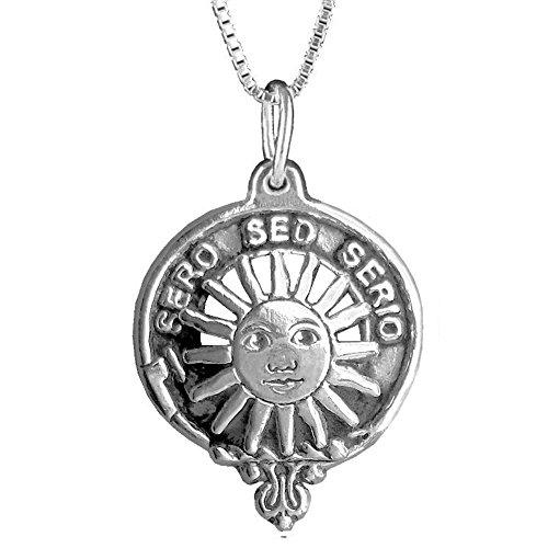 Kerr Clan Crest Scottish Pendant ~ Sterling Silver (Crest Pendant Sterling Silver Jewelry)