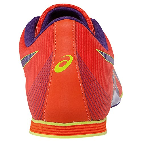 Asics Donna Hyper-rocketgirl 7 Cross Country Scarpa Arancione / Viola Scuro / Giallo Flash