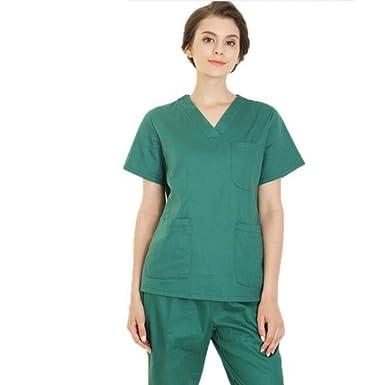 16a9b698575 Amazon.com: ESENHUANG Hospital Women Medical Nursing Clothes Dental Lab  Coat Slim Surgical Suit Medical-Clothing Medical Sets: Clothing