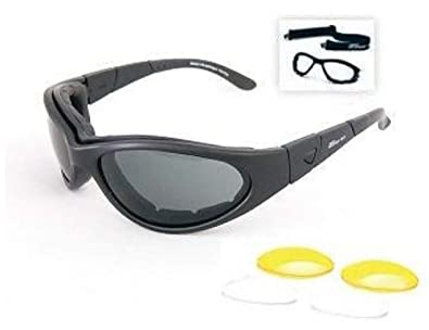 f3a2d968f2c Image Unavailable. Image not available for. Color  Body Specs Sunglasses or  Goggles BSG Matte Black Frame 3 Lens Set