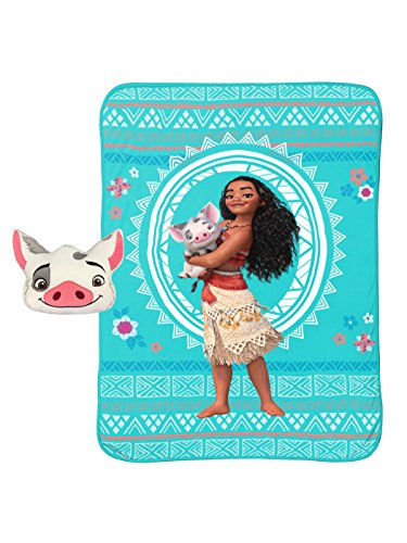 Jay Franco & Sons Disney Moana Nogginz and Blanket Set by Jay Franco & Sons