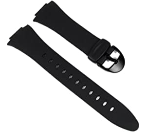 Casio Black Resin Genuine Replacement Band for F-E10 Series - OEM