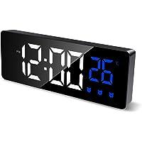 AMIR Digital Alarm Clock, LED Clock for Bedroom with Temperature Display, Adjustable Brightness, 3 Alarms, Voice Control…