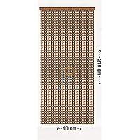 BAI PIN HUI Cortina para Puerta Exterior (Chocolate)