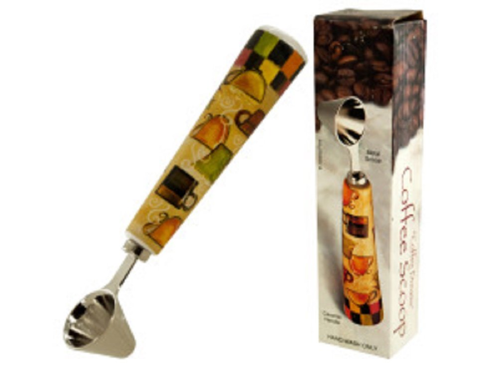 Coffee Scoop wih Beautiful Ceramic Handle-set of two