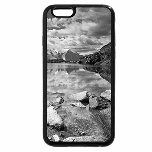 iPhone 6S Plus Case, iPhone 6 Plus Case (Black & White) - Cheserys Lake At French Alps