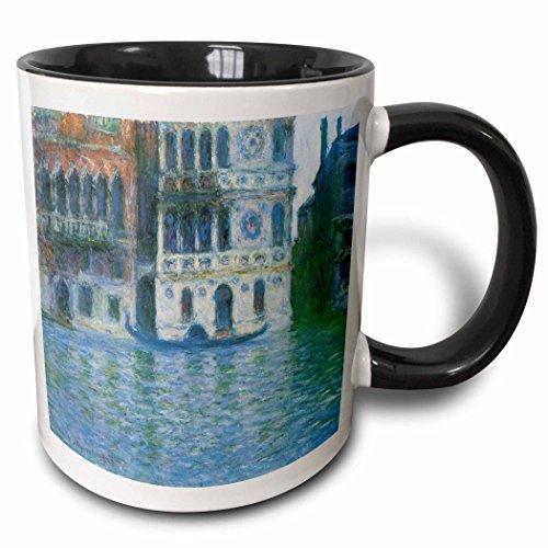 3dRose 126637_4 The The Palazzo Dario By Claude Monet 1908 Mug, 11 oz, Black