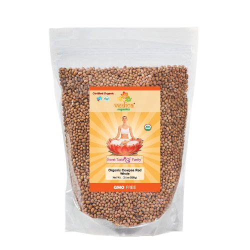 Organic Cowpea Red Whole (2 Lbs)
