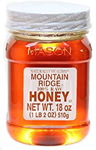 Naturally Healthy Mountain Ridge Honey, 100% Raw Honey, 18 Ounces