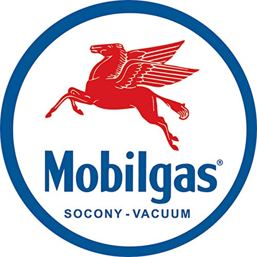 Desperate Enterprises Mobilgas Pegasus Collectible Metal Sign, Model# 610