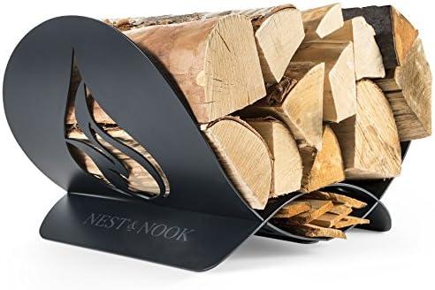 Rustic Fireplace Log Wood Holder