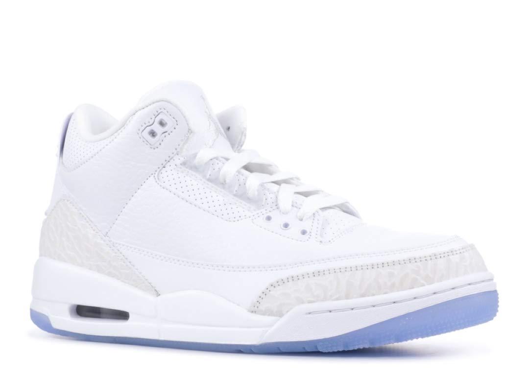 cheap for discount 2e952 27051 Galleon - Nike Jordan Men s AIR 3 Retro, White White-White, 8 M US