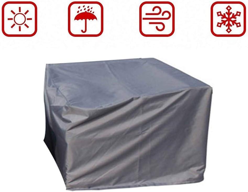 FQJYNLY ガーデン家具カバー99%UV耐性420Dオックスフォードファイバー耐摩耗性ダストカバーはガーデニングを保護、27サイズ (Color : Gray, Size : 300x300x90CM)