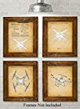 Original DJI Quadcopter Drone Patent Art Prints – Set of Four Photos (8×10) Unframed