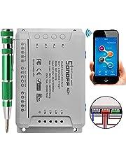 Sonoff 4CH PRO R2 Home Smart Switch Funkfernbedienung Schalter Selbstverriegelnde/ Interlock RF Smart Steckdose Kompatibel mit Google Alexa + 9-in-1 Präzisions-Schraubendreher-Set