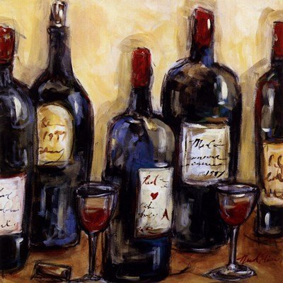 Wine Bar by Nicole Etienne - 8.5x8.5 Inches - Art Print Poster