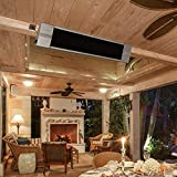 ART TO REAL Infrared Wall-Mounted Electric Heater with Remote Control, Indoor Outdoor Patio Heater All-Round Waterproof Infrared Radiant Space Heater, 120 Volts, 750/1500W