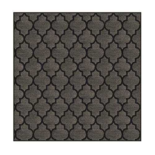 Square 12'x12' - Onyx, Milliken Carpet - Cavetto II Pattern | Designers Dream Collection in Made-to-Order Custom Sized Area Rugs & Runners, Stainmaster Nylon