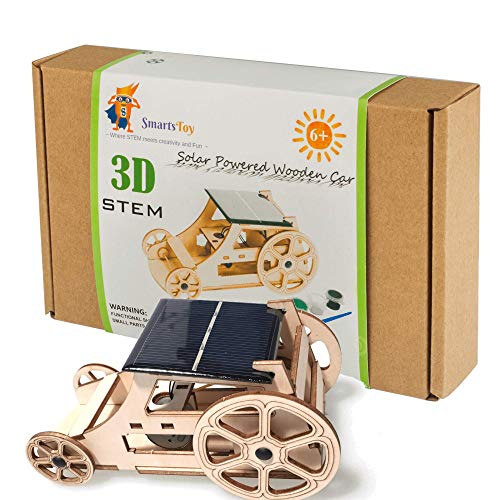 DIY Wooden Model Solar Car Kits to Build - Science Experiment Projects for Kids and Teens - STEM Toys for Boys and Girls - Inventor Kit: Tinker with Engineering, Robotics, Puzzles, Arts and Crafts (Best Models To Build)
