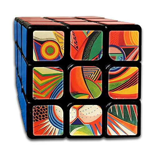 Jigsaw Puzzle Painting Fashion Rubik's Cube 3D Printed 3x3x3 Magic Square Puzzles Finger Game Portable Toys-Anti Stress Practice Patience For Anti-anxiety Adults (Halloween Jigsaw Puzzles To Print)