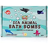 Kids Bath Bombs with Surprise Inside: Sea Animal Toys Inside, Great Gift Set for Boys and Girls, Safe Ingredients that Don't Stain the Tub