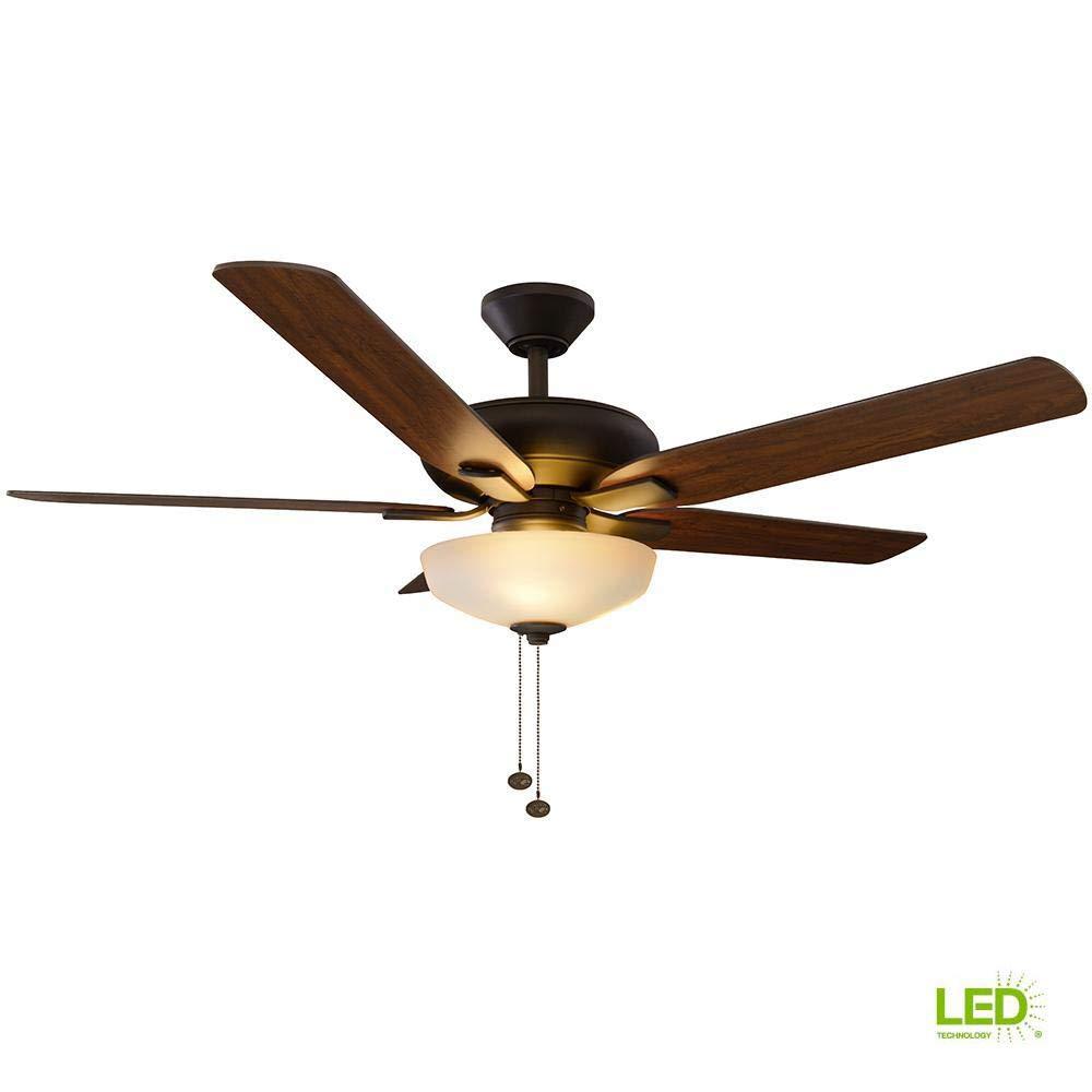 "Hampton Bay 57269 Holly Springs 52"" LED Brushed Nickel Ceiling Fan Light Kit"