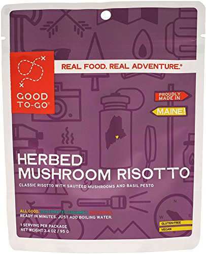 GOOD TO-GO Herbed Mushroom Risotto | Dehydrated Backpacking and Camping Food | Lightweight | Easy to Prepare (Single Serving)