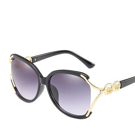 Aoligei Marco Grande Dama Anti-ultravioletas Las Gafas de ...
