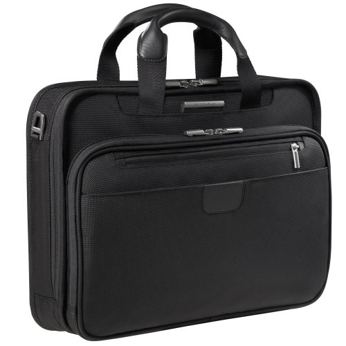 Briggs & Riley 15.4 Inch Slim Briefcase,Black,12x16x4