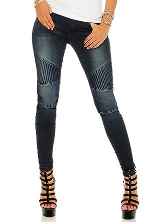 bb0365dd60a1 Rock Angel Damen Sweat Jeans Jeggings Hose Sienna LRA-037 Skinny darkblue XL