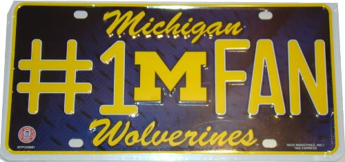 Michigan Wolverines License Plate - #1 Fan by NCAA