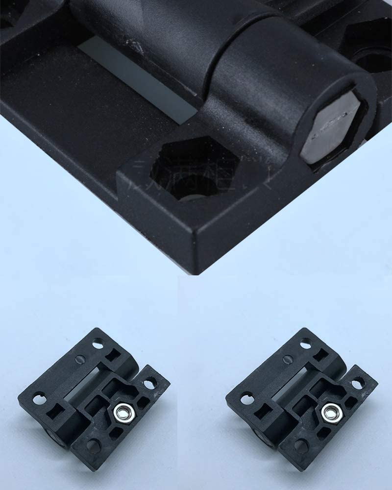 ABS Nylon Hinges Door Hinge Black Gate Hinges Adjustable Self Closing Hinge Pack of 10 Weldable Pair 4 X 4 Gate Hinges-Steel Butt Hinge//HVY Gates Doors by
