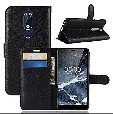 quality design 8a6b2 7d28c Nokia 5.1 Case, Nokia 5.1 Leather Case, Premium PU Leather Wallet Case,  [Card Holder] [ID Holder] [Book Case] [Pu Leather] [Drop Proof] Slim Flip  ...