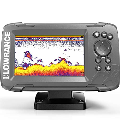 Lowrance HOOK2 5X - 5-inch Fish Finder with SplitShot Transducer and GPS Plotter ... ()