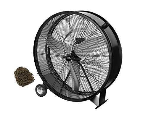 Lakewood Drum Fan, 36-inch Industrial Grade, LUF3602A-BM-SHP (Complete Set) w/ Bonus: Premium Microfiber Cleaner Bundle