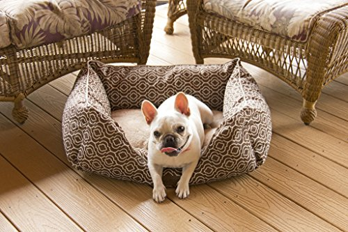 Modern Chic Trellis Cat or Dog Bed by Trendy Pet   All-in-One Design in 2 Sizes, 9 Stylish Colors   Thick, Bolstered Ultra-Soft Microfiber   Easy-to-Clean, 100% Machine Washable, Tumble Dry