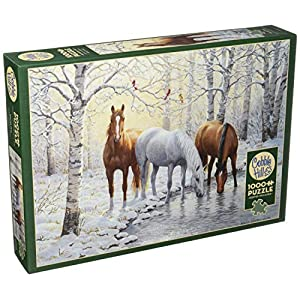 Cobblehill 80055 1000 Pc Winter Trio Puzzle Vari