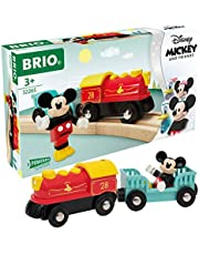 Brio 32265 Disney Mickey and Friends: Mickey Mouse Battery Train   Wooden Toy Train Set for Kids Age 3 and Up - Amazon Exclusive (63226500)