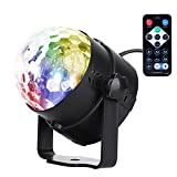 U`King RBG Led Disco Ball Lights Sound Activated Portable Stage DJ Light with Remote Control 7 Color Strobe Lamp Party Light for Car Room Dance Parties Birthday DJ Bar Club Pub