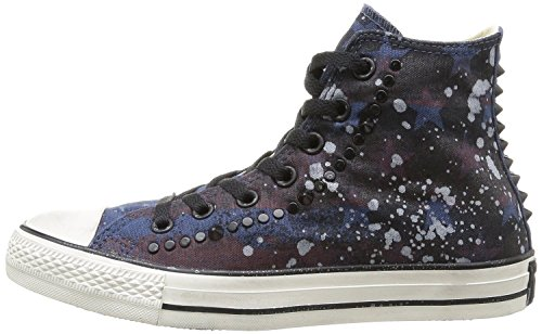 Converse All Star Chuck Taylor STUDDED HI NAVY Unisex Limited Edition 'Stars, Stripes and light gray Splashes' 142220C 9 MENS 11 WOMENS 9 UK 42.5 EU 27.5 CM