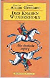Des Knaben Wunderhorn, Volume 1, Clemens Brentano, 3895070378